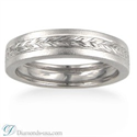 Picture of 4.5 mm wheat motif men wedding band
