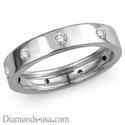 Foto Anillo de boda de diamante de superficie plana, 4,55 mm. de