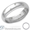 Picture of Half a carat diamond wedding ring, 4.7mm.