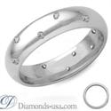 Foto Anillo de boda con diamante de medio quilate, 4,7mm. de