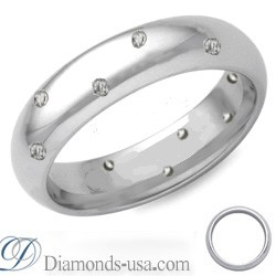 Half a carat diamond wedding ring, 4.7mm.