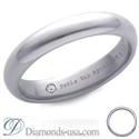Picture of Diamond and inscription wedding ring-3.7mm
