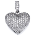 Picture of 110 micro Pave set diamonds pendant