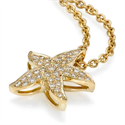 Picture of The diamonds Star Fish pendant