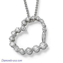 Picture of The Journey,1 carat diamonds necklace