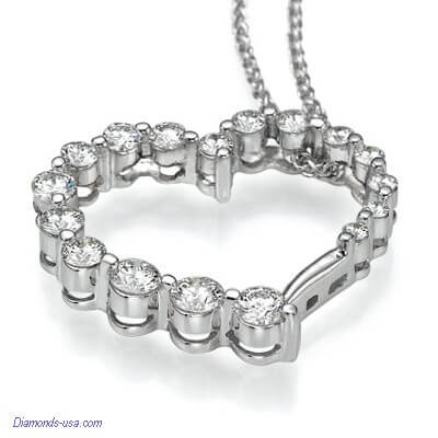 The Journey,1 carat diamonds necklace