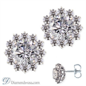 Picture of Cluster diamond stud earrings
