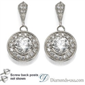 Picture of Designers drop round earrings with diamonds