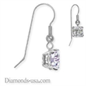 Picture of French wire hinged earrings,Princess diamond