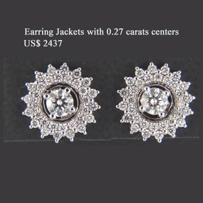 """Pendiente """"Ear Jacket"""" con diamante, 0,70 quilates"""