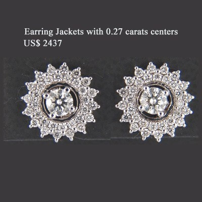 Diamond earring Jacket 0.70 carats