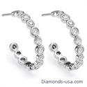 Picture of Diamond Hoop earrings 1.15carat