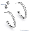 Picture of Diamond Hoop earrings 1.15carat