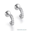"Foto Pendientes ""Ear Jacket"" con diamantes, 0,70 quilates de"