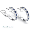 Picture of Hoop earrings, Princess Diamonds and Sapphires