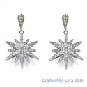Picture of Star diamond earrings, 0.75 carats