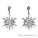 Foto Pendientes de diamantes en forma de estrella , 0,75 quilates de
