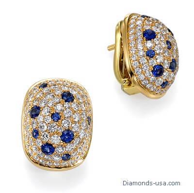 Pendientes de diamantes en forma de cúpula