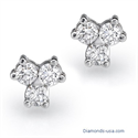Picture of Three diamonds cluster earrings, 0.60 carats