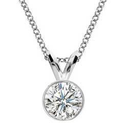 Bezel set Pendant for Round diamonds