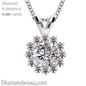 Picture of Cluster pendant for round diamonds