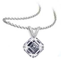 Picture of Solitaire Pendant for Asscher cut diamonds