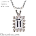 Picture of Cluster pendant for Emerald or Radiant diamonds