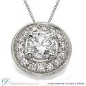 Picture of Halo Pendant for rounds with surrounding diamonds