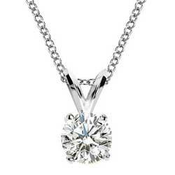 Solitaire pendant for Round diamonds