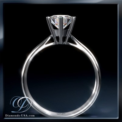 Martini prongs head diamond engagement ring