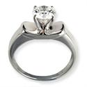 Foto Anillo de compromiso de diamante Solitario de
