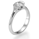 Picture of Low Profile Tension solitaire Engagement ring