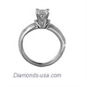 Picture of The Lips, solitaire engagement ring