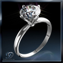 Picture of Tulip style solitaire engagement ring