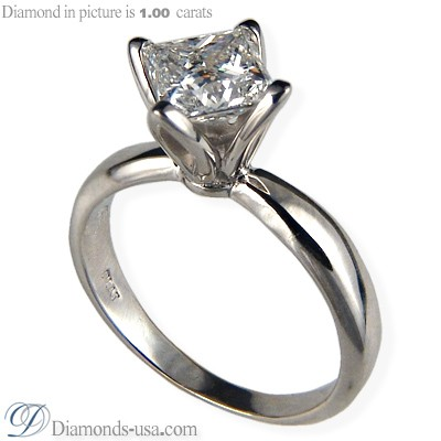 Tulip style solitaire engagement ring settings