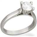 Picture of U Head, Wide Cathedral solitaire engagement ring