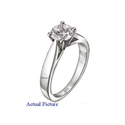 Picture of Wide Cathedral solitaire engagement ring