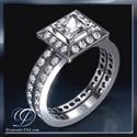 Foto Juego de anillos nupciales de diseñadores de 0,84 quilates de