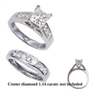 Picture of 1.04 carats sides bridal ring sets