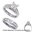 Foto Juegos de anillos nupciales con laterales de 1.04 quilates de