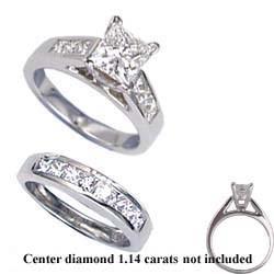 1.04 carats sides bridal ring sets