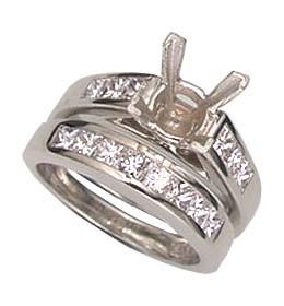 Juegos de anillos nupciales con laterales de 1.04 quilates