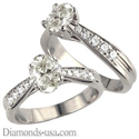 Picture of 1/2 carat side stones Criss Cross bridal ring sets