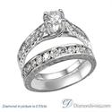 Foto Conjunto de anillos de novia grabados a mano de estilo vintage. de
