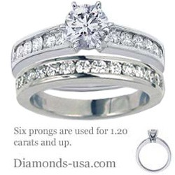 Bridal ring sets settings with round side diamonds