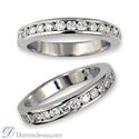 Picture of Bridal ring sets settings with round side diamonds