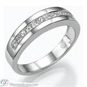 Foto Juego de anillos nupciales con diamantes Princesa de 2,40 quilates de