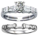 Picture of Bridal rings with Baguette and round diamonds