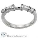 Foto Juego de anillos nupciales con diamantes Baguette y redondos  de