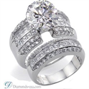 Picture of Bridal rings set, 2.25 carat side diamonds